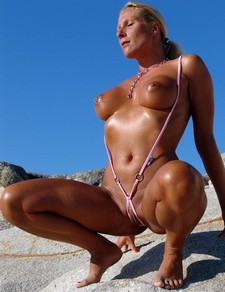 Party Girl beach photo