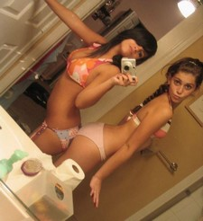 Young Sluts in the Mirror.