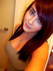 Sexy teen amateur in a amazing ex-girlfriend selfshot photo.
