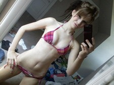 Amazing brunette teen in incredible homemade selfshot picture.