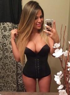 Cute Italian sexy chick in hot underwear love to selfshot pretty big breasts