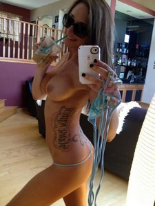 Handsome tattooed brunette is so hot and sexy with her natural busty boobs and small ass