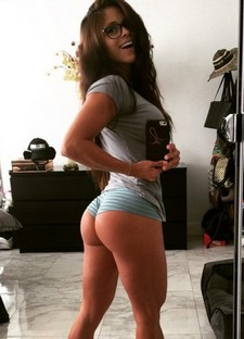 Wonderful brunette selfshot her big booty and big ass and busty real breasts