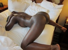 Hot ebony showing her big real black ass big booty and natural real boobs