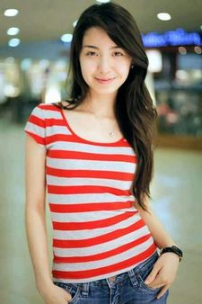 Pinay Beauty in Red Stripes.