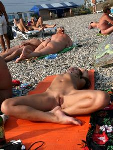 If you are on an adult beach like Cap d'Agde,