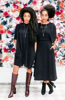 Double crushin' on the amazing Quann sisters! Out at the & Other Stories preview event..