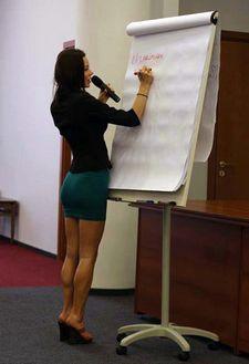 Hot teacher.