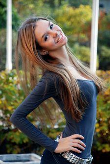Hot brunette.