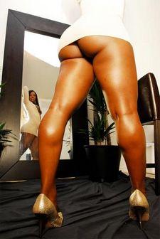 Upskirt ass pics with curvy black babe