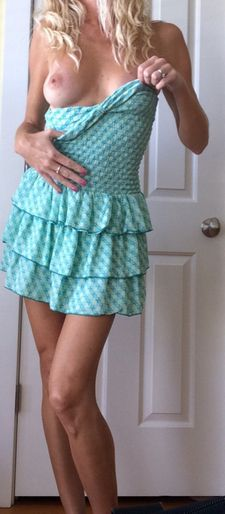 Hot lady in the blue skirt