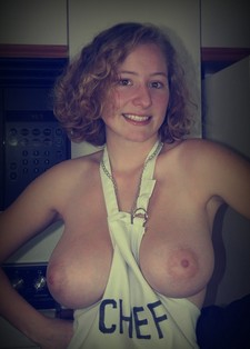 Incredible amateur picture with superb big tits.