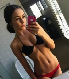 Lovely brunette teen in this amazing novice selfshot picture.