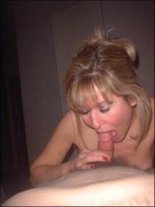 Mature blonde sucking cock - homemade porn