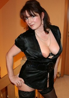 Awesome naked busty milf