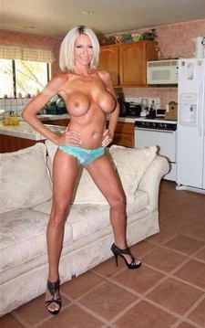 Hot blonde mommy in a hot novice picture.