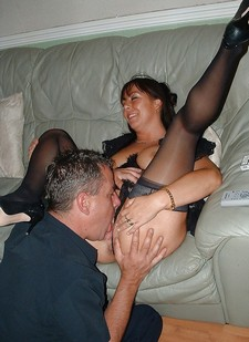 Cuckwifey MILF swinger licked out
