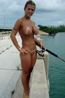 She can fish with me