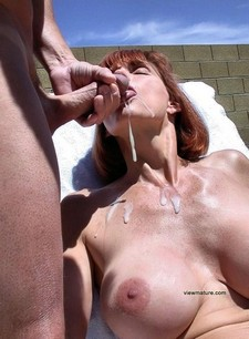 Incredible beginners jizzed picture featuring gorgeous mature.
