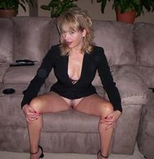 Adorable mature woman teasing
